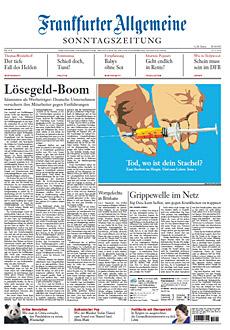 Cover Frankfurter Allgemeine Sonntagszeitung