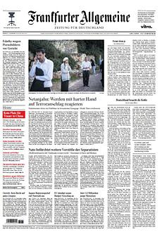 Cover Frankfurter Allgemeine Zeitung