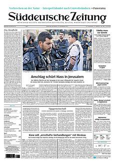 Cover Süddeutsche Zeitung